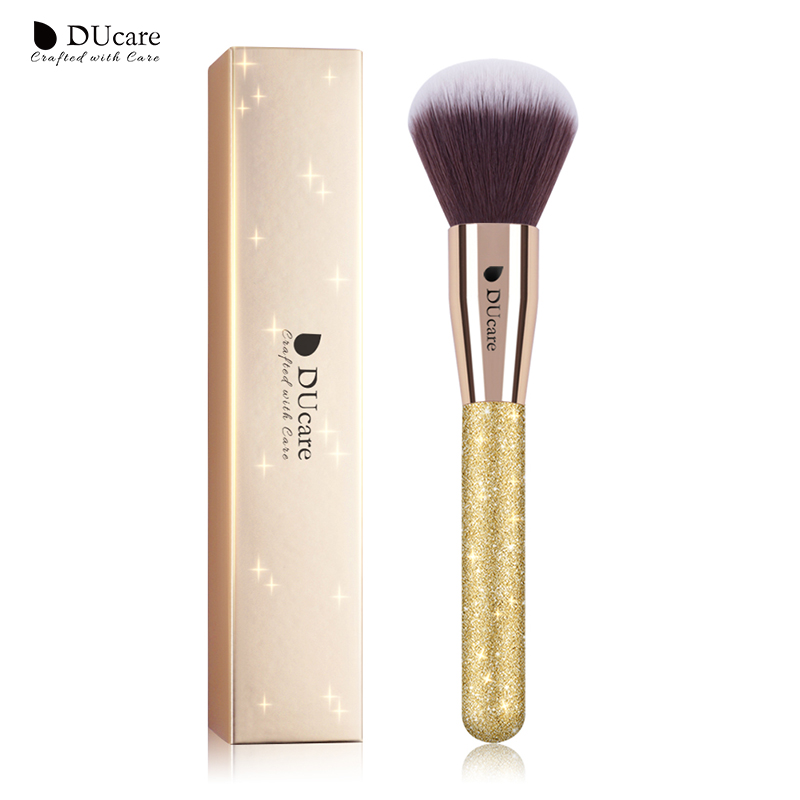 DUcare 1 PC Powder Brush Large Blush Brush Professional Makeup Brushes Super Soft Synthetic Hair Cosmetic Tools 1pc new retractable makeup brushes professional face powder blush brush cosmetic brush tools portable soft makeup blusher brush