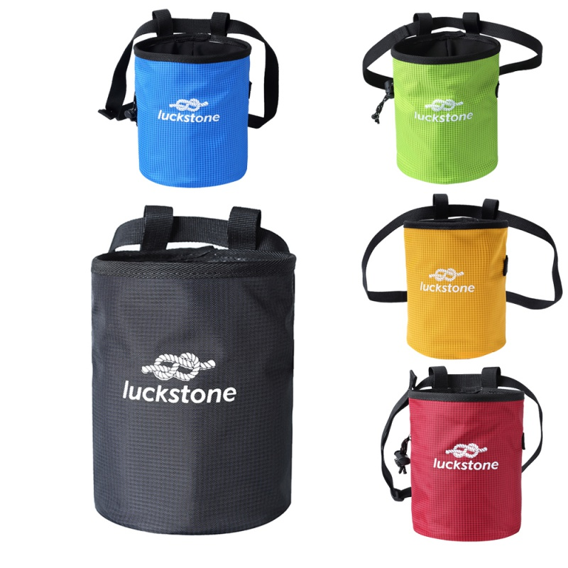 2019 New Large Gymnastics Rock Climbers Outdoor Climbing Chalk Bag With Drawstring Closure Adjustable Belt & Brush Slot