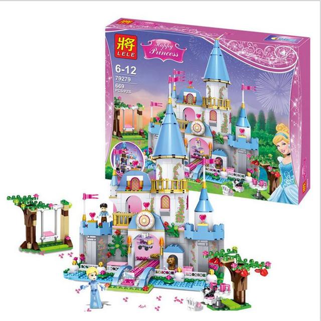 699 Unids Cenicienta Princesa Castillo Romántico Kits de Edificio Modelo Figuras de La Muchacha Amigo Juguetes de los Ladrillos Bloques LEPIN