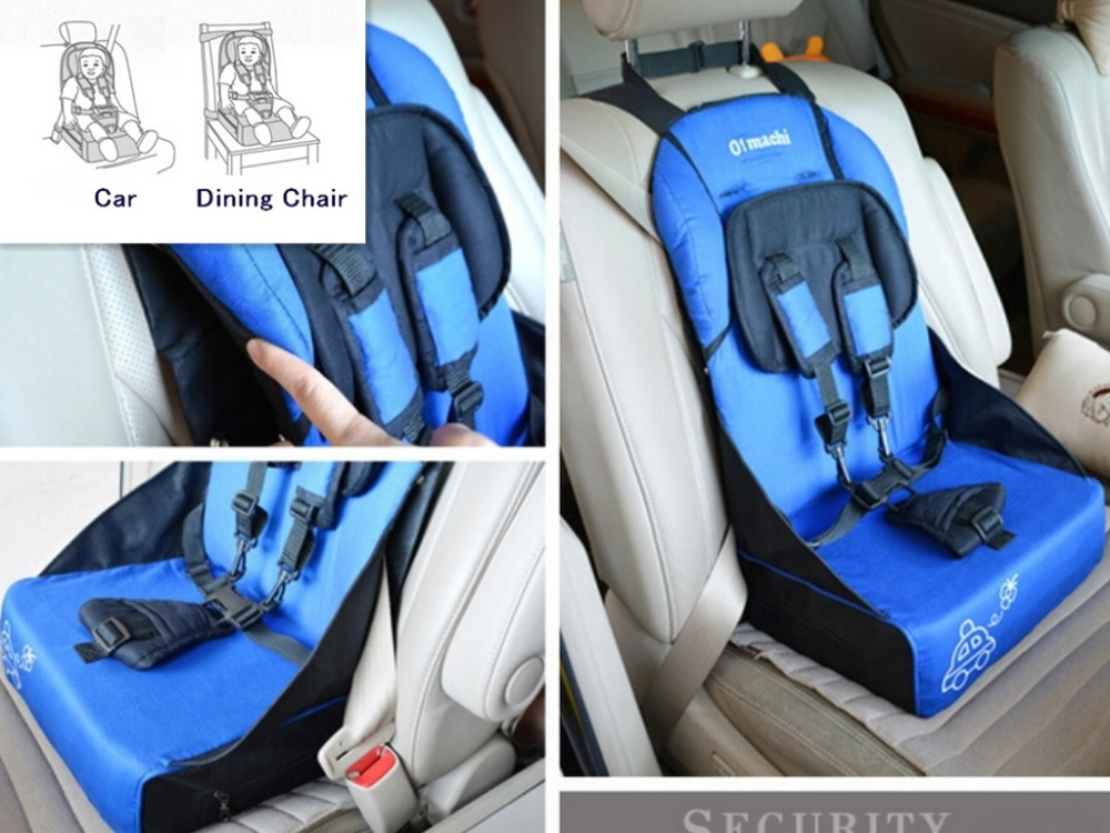 High Quality Five Points Portable Baby Car Safety Seat Cushion Dining Chair Infant Baby Booster
