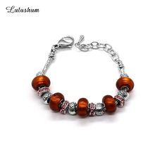 SANYU 2019 New Temperament Jewellery High Quality Fit Pandora Bracelet Fashionable Glaze Beads Christmas Gift For Women BR-1594