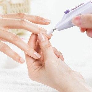 Image 5 - Mini elektryczna wiertła do paznokci profesjonalne tokarki bufor do Manicure Pedicure wiertła do frezowania przenośny żelowy przyrząd do usuwania naskórka