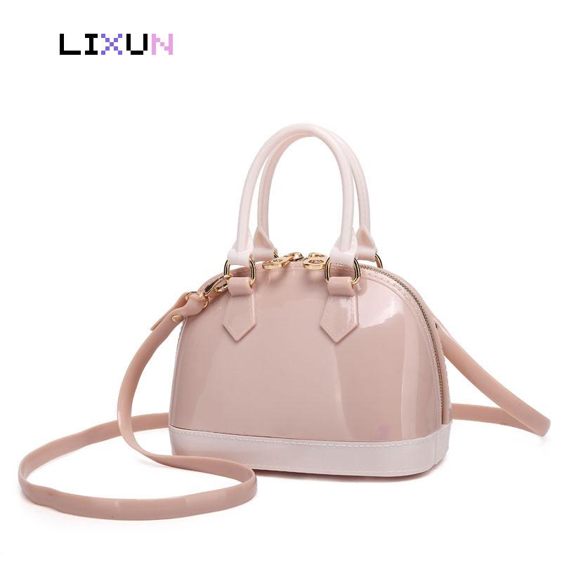 Casual Women Silicone Sweet Handbags Tote Bag Girls Shell Bolsas Famous Ladies Summer Jelly Crossbody Shoulder Beach Bags Bolsa Сумка