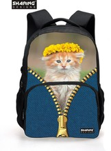 Cute Girls Backbag 3D Animal Backpacks Cat Printing Faculty Bagpack for Women College students Kids's Faculty Laptop computer Backpack