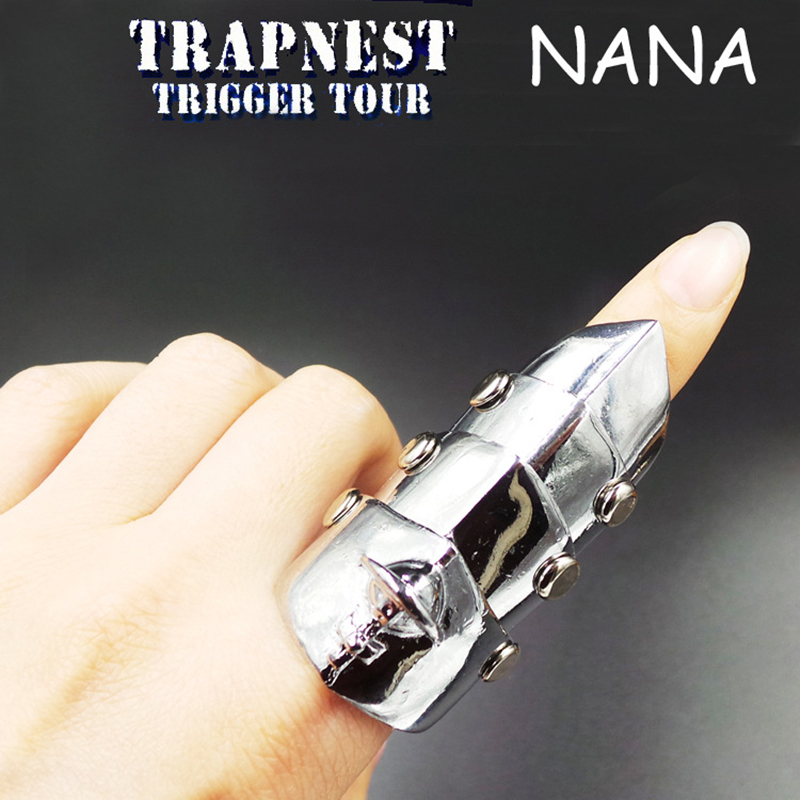 Anime NANA Knuckle Finger Fashion Exquisite Silver Alloy Ring Cosplay Costumes