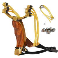 Powerful Hunting Slingshot Rubber Band PU Leather Professional Tactical Wrist Pocket SlingShot for Hunting Shooting Fishing