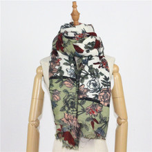 Imitation cashmere new rose printing scarves warm autumn and winter womens / shawls manufacturers