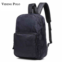 VIDENG POLO Brand Men New Shoulder Bag Fashion Trend Canvas Leisure College Student Oxford Cloth Camouflage