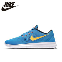 NIKE Original Nike Male Running Shoes New Pattern FREE RN Barefoot Ventilation Running Shoes For Men
