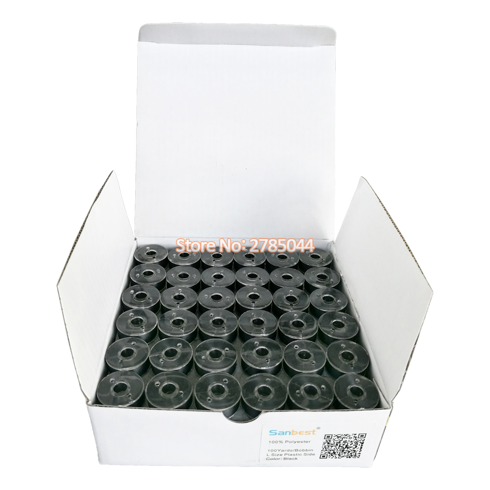 100 A SIZE PLASTIC SIDED EMBROIDERY BOBBINS !!JANOME!!