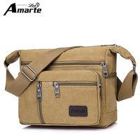 Amarte 2018 New Fashion Men S Bags High Quality Men Canvas Bag Casual Travel Men S