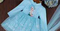 Promotion Girl Dress Christmas Wedding Party Dresses Knitted Chiffon Winter Kids Girls Clothes