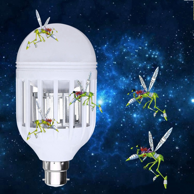 18 LED Lamp Bulb E27/B22 7W 2835 SMD Anti Mosquito Killer Bulb LED Light Bulb 220V Electronic Insect Fly Lure 1000lm