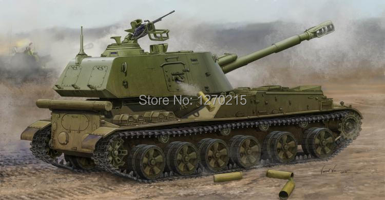 Trumpeter 1/35 Soviet 2S3 152MM SP Howitzer Late Plastic Model Kit 05567 trumpeter model 05106 1 35 as365n2 dauphin 2 plastic model kit