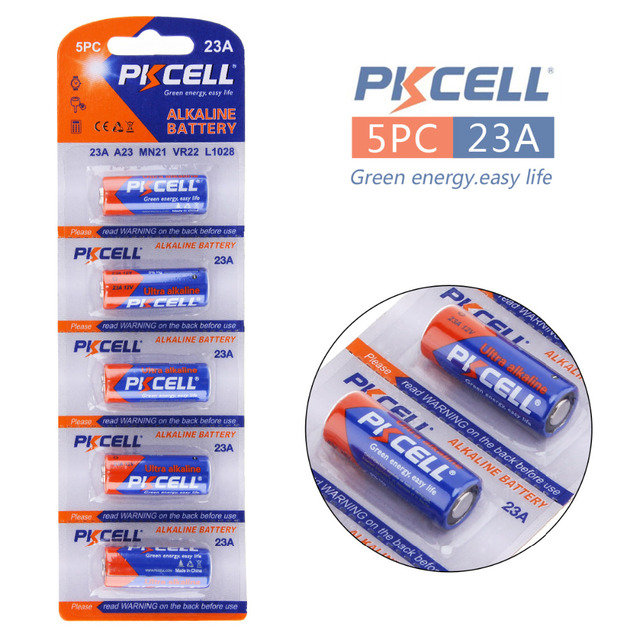10pcs Pkcell Alkaline Dry Battery Primary 23a A23 Mn21 12v Battery