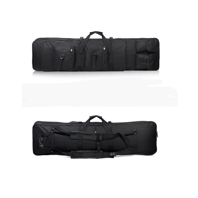 47 inch 120 CM SWAT Dual Tactical Heavy Duty  Messenger Large Capacity Bag Carrying Case For Rifle Gun Black Wholesale-in Hunting Gun Accessories from Sports & Entertainment