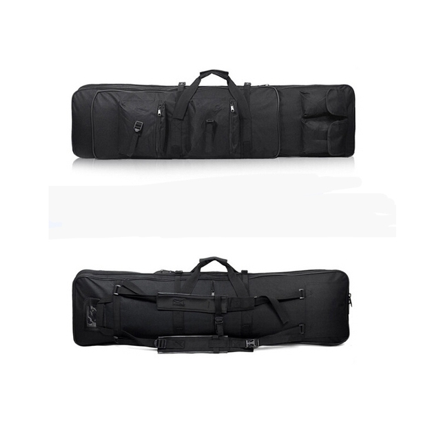 47 inch 120 CM SWAT Dual Tactical Heavy Duty  Messenger Large Capacity Bag Carrying Case For Rifle Gun Black Wholesale