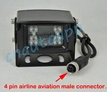Грузовик/Автобус SONY CCD Камера Заднего вида Камеры-4 авиакомпании контактный авиации разъем