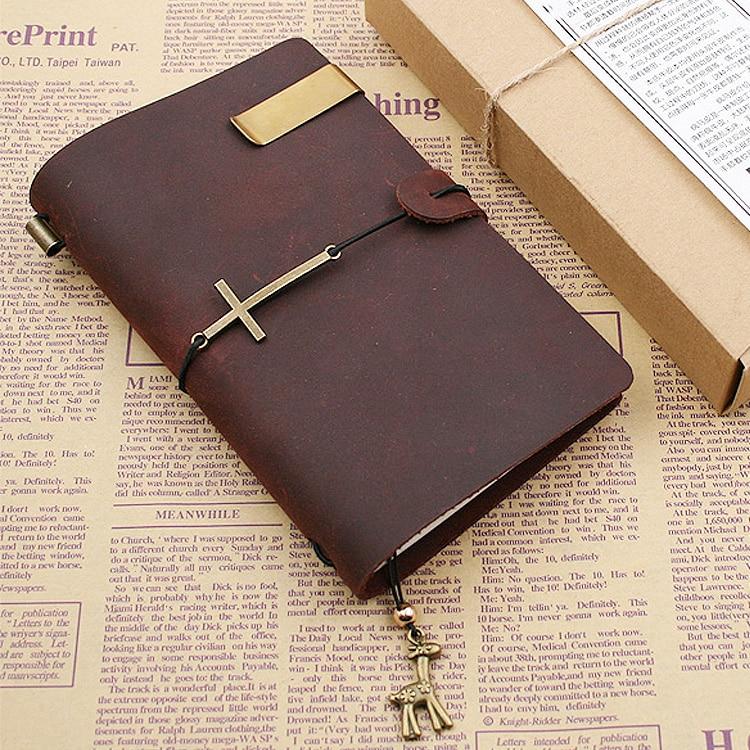 Blank Diaries Journals notebook note book vintage simple genuine leather почему в point blank нельзя усиленный шлем