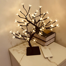 Tree-Light Blossom Bonsai Cherry Branches Festival Leds Wedding Party Indoor Home Black