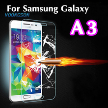 Ultra Thin 2.5D Explosion Proof Premium Tempered Glass Screen Protector Anti-scratch Film For Samsung Galaxy A3 A300 A300F A300H цена