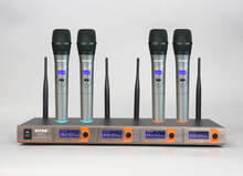 4 канал УКВ беспроводной микрофон микрофон системы SM-5520