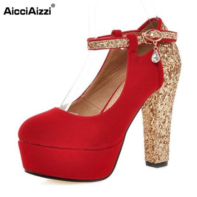 low cost 8c430 d0adf AicciAizzi-Taglia-33-43-Signore-Sexy-Scarpe-Tacco -Alto-Donne-Ankel-Strap-Platform-Lustro-Tacchi-Spessi.jpg 640x640.jpg