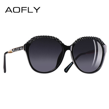AOFLY BRAND DESIGN Polarized Sunglasses Women Gradient Sun Glasses For Women 2018 Fashion Glasses UV400 A133
