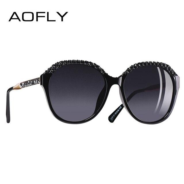 c84a1056f694d AOFLY Marca Diseño polarizadas gafas de sol de las mujeres gradiente de  gafas de sol para