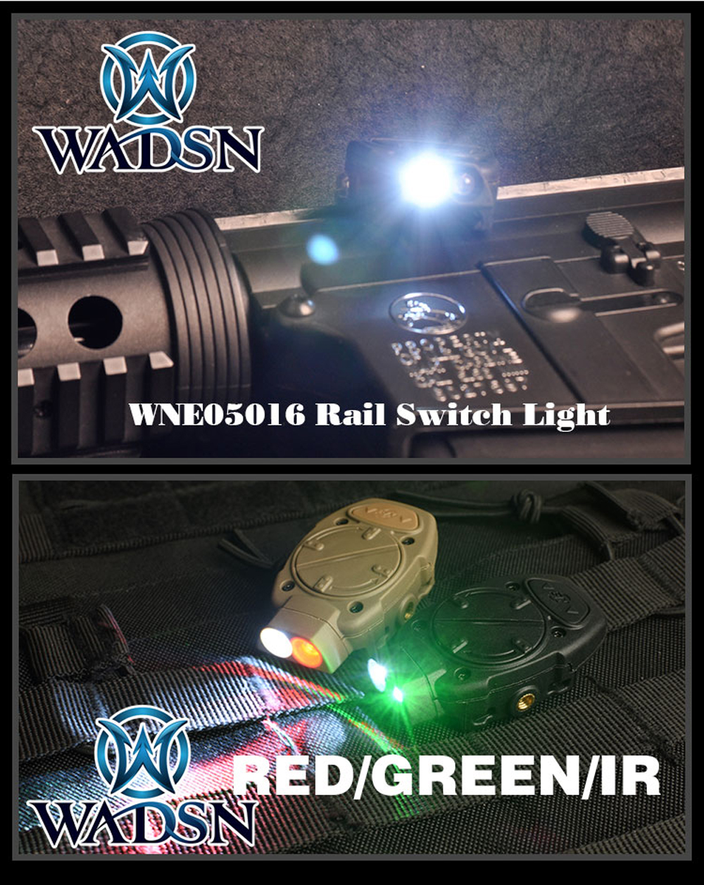 vermelho ir softair arma luz wne05016
