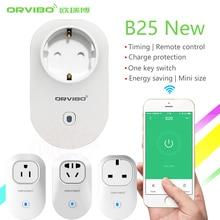 Новинка 2017 года Orvibo домашней автоматизации B25 ЕС/u/UK/AU Стандартный Умные розетки 4 г/Wi-Fi Дистанционное управление переключатель для смартфонов