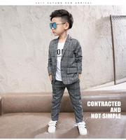 Boys Suits 2018 New Style Kids Clothes Set Wedding Clothes Tops+Pants 2 Pieces Suit Fashion Outfits Children clothing