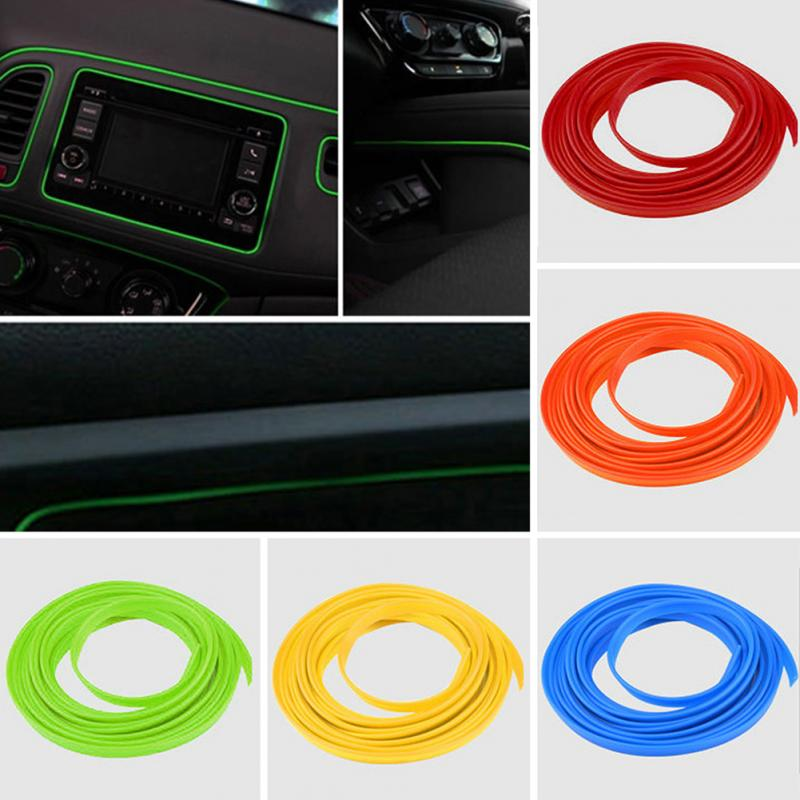 5M Car Interior Moulding Decorative Strip Flexible For Audi A3 A4 B8 B6 A6 C6 A5 B7 Q5 C5 8P Q7 TT C7 8V A1 Q3 S3 A7 B9 8L A8 80