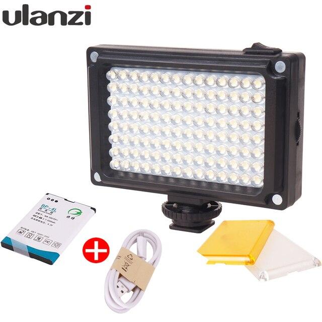 Ulanzi 112 מיני LED וידאו דו צבע צילום אור עבור מצלמה DV מצלמה אור עם מסנני Youtube Vlogging חתונה