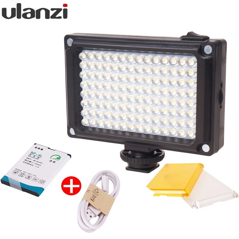 Ulanzi 112 Mini LED Video Bi-Farbe Photographische Licht für Kamera DV Kamera Licht mit Filter für Youtube Vlogging hochzeit
