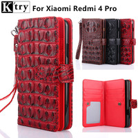 K Try For Xiaomi Redmi 4 Pro Case Cover Luxury Leather Soft Silicone Wallet Flip Cover