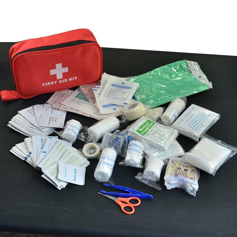 180 teile/paket Sicher Reiseapotheke Camping Wandern Medizinische Notfallausrüstung Behandlung Pack Set Outdoor Wildnis Überleben