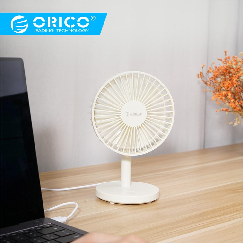 Mini Portable Super Quiet USB Desk Fan Home Office Electric Table Air Cooler White