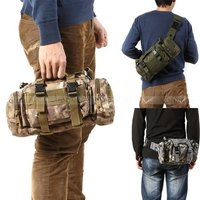 3P Tactical Waist Pack Hiking Ride Waist Pack Chest Pack Shoulder Bag Outdoor Travel Waterproof Military
