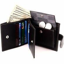Con bolsillo de la Moneda de Venta Caliente Nuevo estilo del cerrojo de la manera marca de calidad hombres del diseño del monedero de los hombres carteras