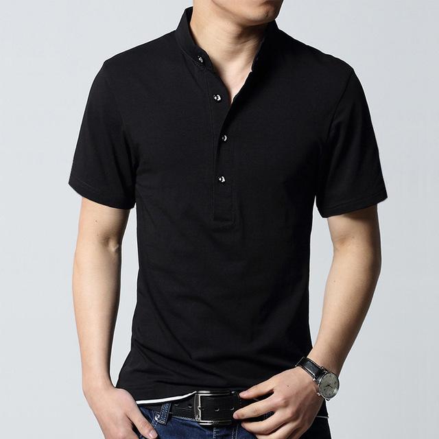 2017 estilo del verano de manga corta sólido hombres de la camisa de polo polos de algodón transpirable para hombre camisas casuales tamaño asiático