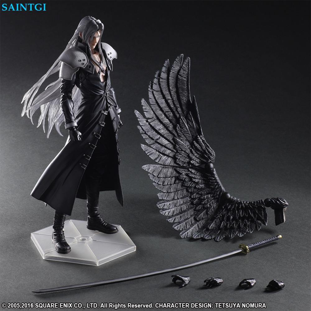 XV VII ff15 Sephiroth FFXV Final Fantasy PA Claude Knight Argentum Play Arts Kai Cloud Strife Collection Model PVC 25cm Figures anime folding wallet final fantasy xiii cloud strife sephiroth iclair farron high quality short pu purse free shipping