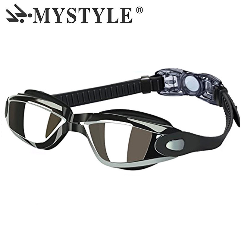 MYSTYLE New Swiming Goggles Men Silicone Waterproof Anti-fog Competitive Professional Sport Glass Water Diving Swim Pool Glasses