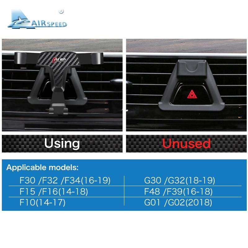 Image 5 - Airspeed Car Mobile Phone Holder Bracket Auto Special Mount for BMW F30 F32 F34 F10 F15 F16 F48 F39 G01 G30 G32 G02 AccessoriesUniversal Car Bracket   -