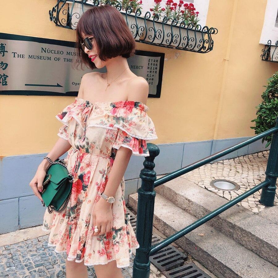 Robe sans épaule australienne en lin naturel rose