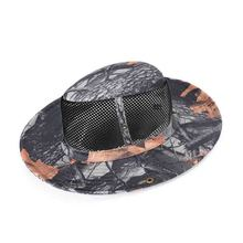NEW 2019 Outdoor Prevent bask Uv protection Camouflage caps camping hiking jungle cap outdoor fishing hat Bucket Hats
