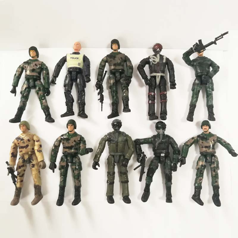 Army Toys Gifts Boys Combat Soldier Action Figure with Accessories 18 Pcs Gift
