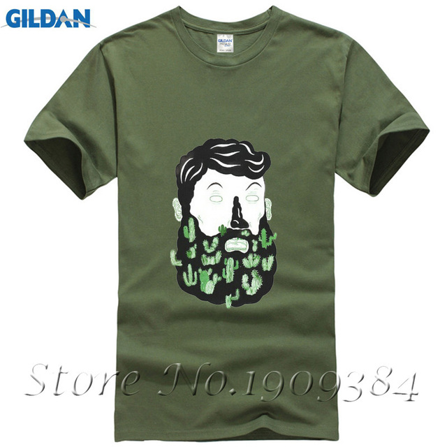 Cactus Beard Dude New Fashion Men S T Shirts Short Sleeve Cotton T