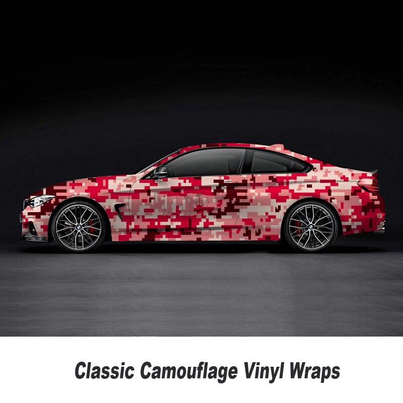 Camo vinyle Wrap voiture moto décalque miroir téléphone portable bricolage style Camouflage autocollant feuille de Film sélection de plusieurs tailles