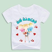Suicide Squad T Shirt Kid Toddler Round Neck Baby Tshirt Children Infant Clothing 2017 Harley Quinn